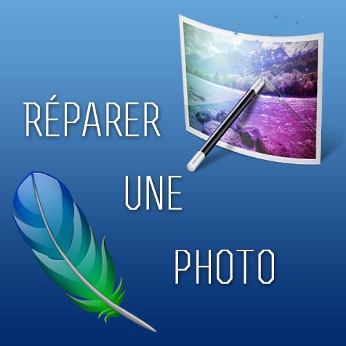 Réparation d'une photo abîmée