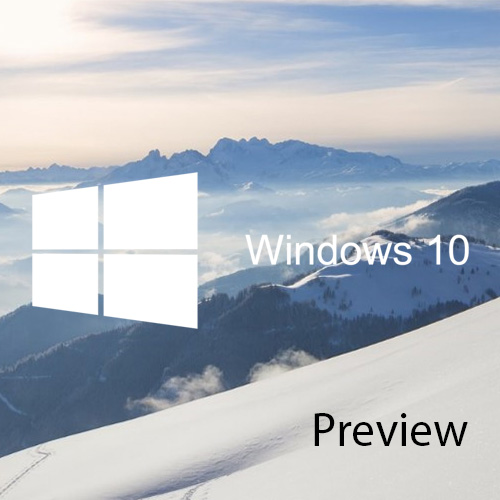 Découverte de Windows 10 Technical Preview