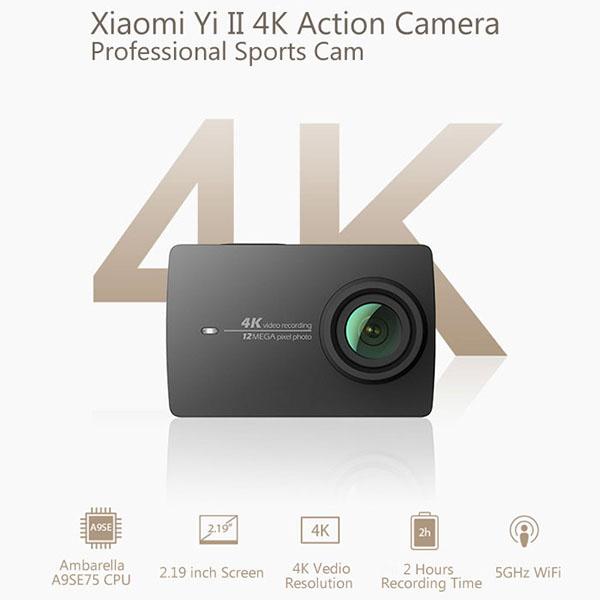 La nouvelle caméra sport 4K de XIAOMI, la Yi II, est disponible !